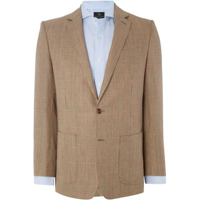 Men's Chester Barrie Check Sports Jacket, Brown