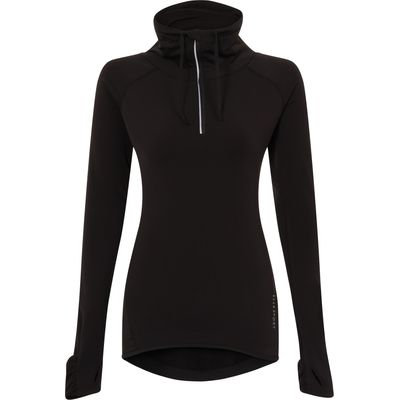 Elle Sport Running Thermal Warmwear 3/4 Zip Top, Black