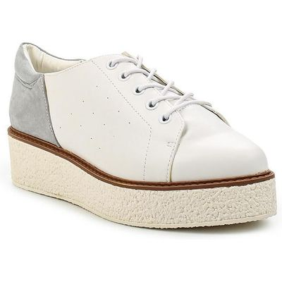Lost Ink Pam creape outsole plimsolls, White
