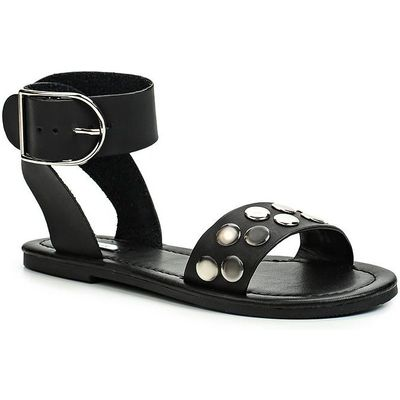 Lost Ink Cady studded wrap sandals, Black