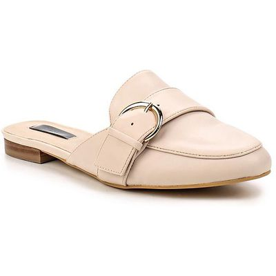 Lost Ink Krissy backless loafers, Nude