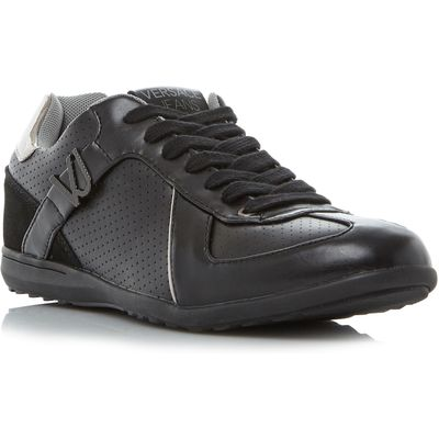 Versace Jeans Ypbsc1 suede trainers, Black