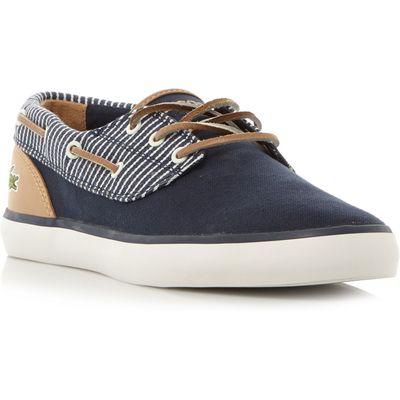 Lacoste Jouer Deck Vulcanised Boat Shoes, Blue