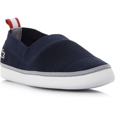 Lacoste L.ydro Pique Ribbed Slip On Shoes, Blue