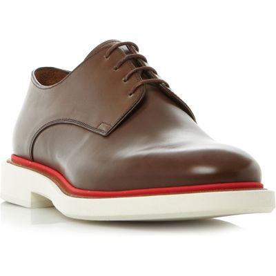 PS By Paul Smith Senior coloured welt gibson shoes, Brown