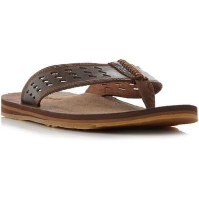 Timberland A1b8h punched toe post sandals, Brown