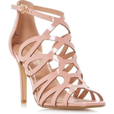 Head Over Heels Mae caged dressy sandals, Nude