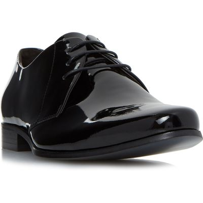 Bertie Police smart chiseled gibson shoes, Black