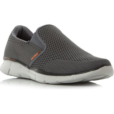 5057137219442 | Skechers Equalizer double mesh slip on trainers  Grey Store