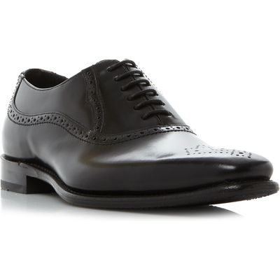 Barker Finch punched toe cap oxford shoes, Black