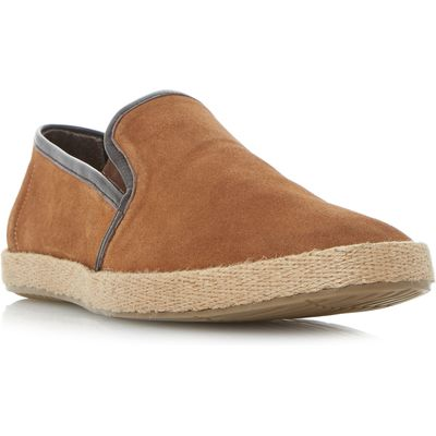 Linea Bute espadrille slip on shoe, Brown