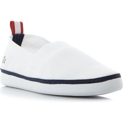 Lacoste L.ydro Pique Ribbed Slip On Shoes, White