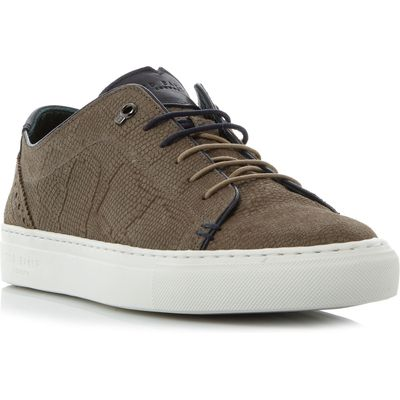 Ted Baker Kiing embossed cupsole trainers, Taupe