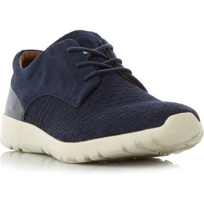 Tommy Hilfiger Furlong 2B1 Suede Wedge Sole Trainers, Blue