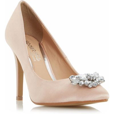 Head Over Heels Annette court shoes, White