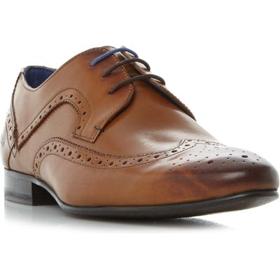 Ted Baker Oakke Wingtip Brogue Lace Up Shoes, Tan
