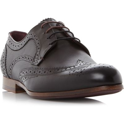 Ted Baker Granet Wingtip Brogue Shoes, Black