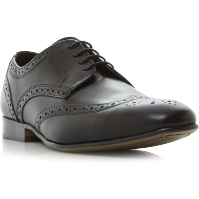 Howick Rushmoor 1 punched wingtip gibson shoes, Black