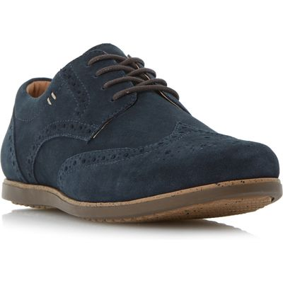 Linea Bandstand Sporty Lace Up Brogue Shoes, Blue