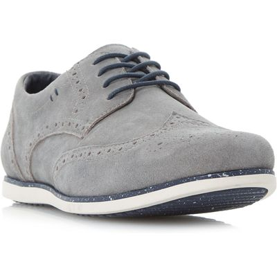 Linea Bandstand Sporty Lace Up Brogue Shoes, Grey