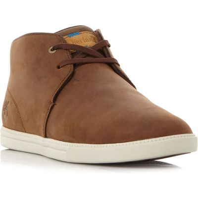 Timberland A19Pa Plain Mid High Top Trainers, Brown