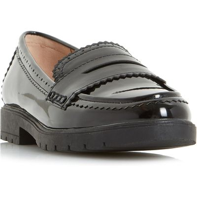 Head Over Heels Gemm Cleated Loafers, Black