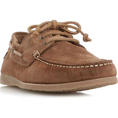 Bertie Beach suede lace up boat shoes, Tan