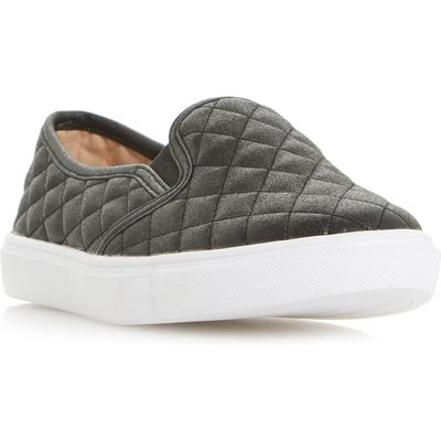Head Over Heels Elsaa Q Quilted Skater Trainers, Black