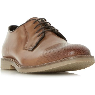 Howick Bishopton Perforated Toe Gibson Shoes, Tan