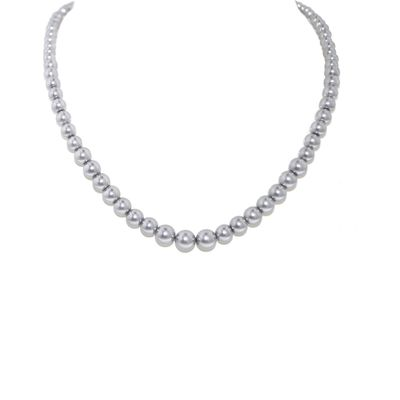 Lilli & Koe Oyster grey graduated pearl necklace, Grey