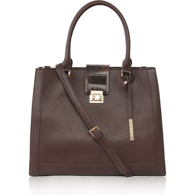 LaBante Jocelyn vegan tote bag, Dark Brown