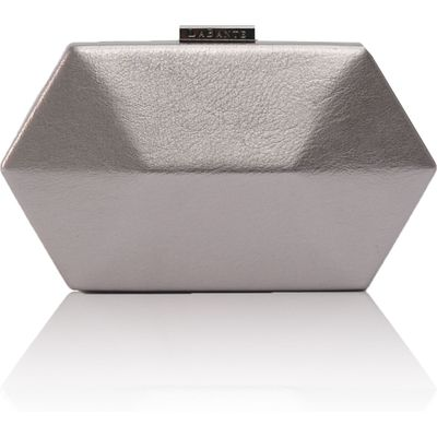 LaBante Royale vegan clutch bag, Silver