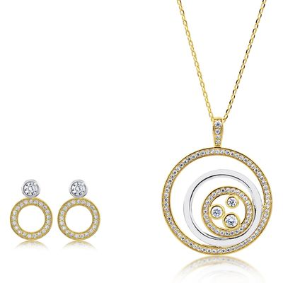 Infinity & Co Charlotte Pendant and Earring Set, N/A