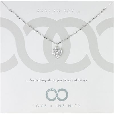 Infinity & Co Love X Infinity Pendant, White