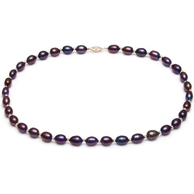 Kyoto Pearl Black Freshwater Pearls Necklace, N/A