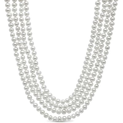 Kyoto Pearl 100 inch necklace, White