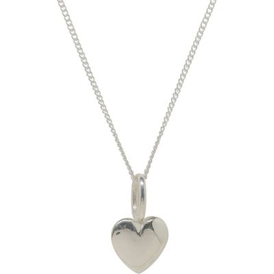 Katie Mullally Silver beaten heart charm and chain, Silverlic