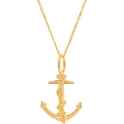 Katie Mullally Gold plated anchor charm and chain, Silverlic