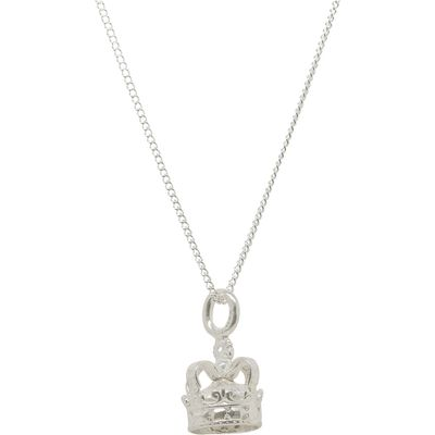 Katie Mullally Silver crown charm and chain, Silverlic