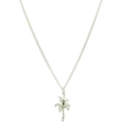 Katie Mullally Silver palm tree charm and chain, Silverlic