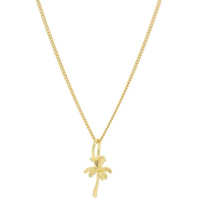 Katie Mullally Gold plated palm tree charm and chain, Silverlic