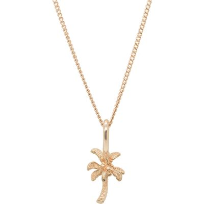 Katie Mullally Rose gold palm tree charm and chain, Silverlic