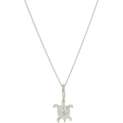 Katie Mullally Silver turtle charm and chain, Silverlic