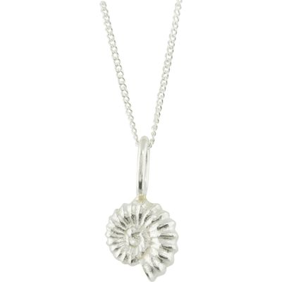 Katie Mullally Silver ammonite charm and chain, Silverlic