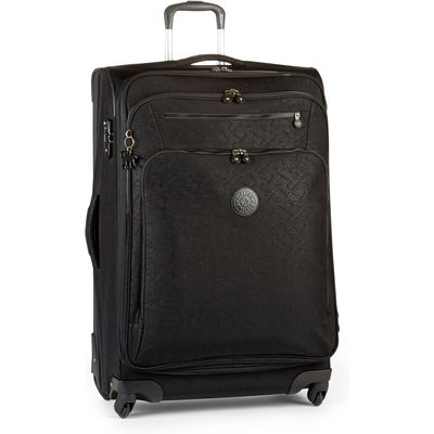 Kipling Youri spin 78 large expandable suitcase, Black