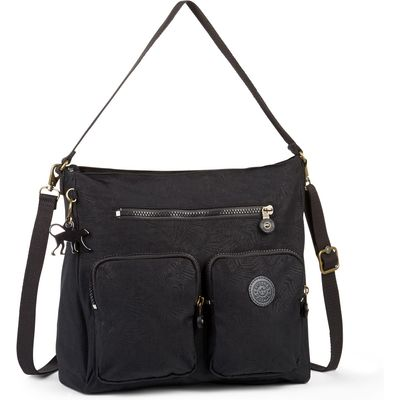 Kipling Tasmo basic plus medium shoulder bag, Black Geo