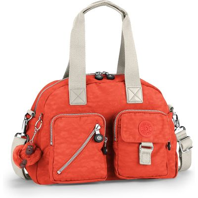 Kipling Defea medium shoulder bag, Coral