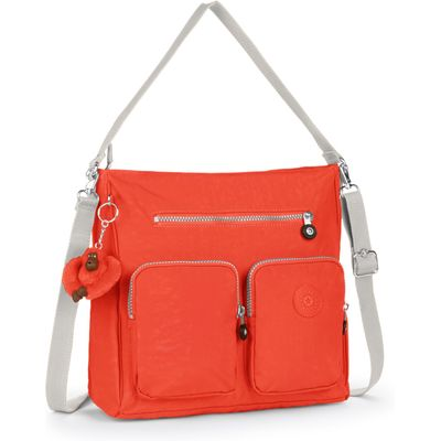 Kipling Tasmo removable strap shoulder bag, Coral