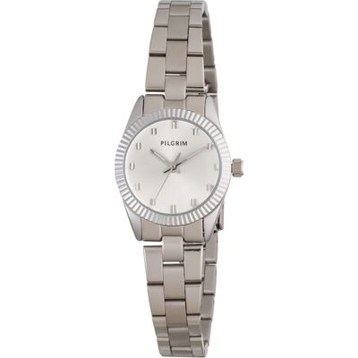 Pilgrim Silver plated watch, Silver