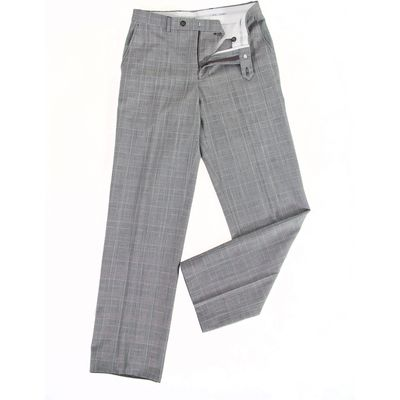 Men's Oscar Jacobson Prince of Wales performance trousers, Grey